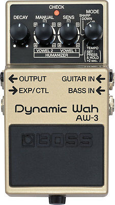 Boss AW-3 Dynamic Wah / Envelope Filter Pedal With Free 5-Year Warranty - New!