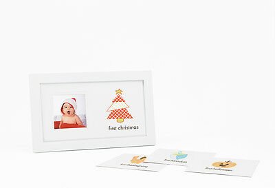 Pearhead First Holiday Photo Frame (includes a Happy Mother's Day Background)