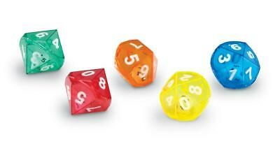 10 Sided Dice in Dice - Set of 10 - Maths Teaching Resource Game