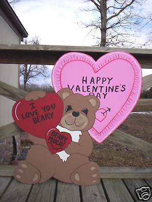 BEAR with HEARTS --  Valentine's Day Yard Art Decor.