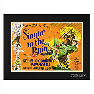 SINGIN' IN THE RAIN Framed Film Movie Poster A4 Black Frame