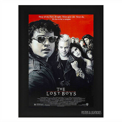 THE LOST BOYS VAMPIRE Framed Film Movie Poster A4 Black Frame