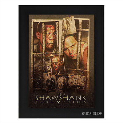 THE SHAWSHANK REDEMPTION Ref 01 Framed Film Movie Poster A4 Black Frame