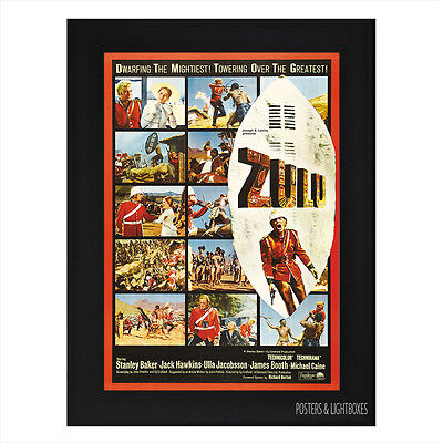 ZULU Ref 01 Framed Film Movie Poster A4 Black Frame