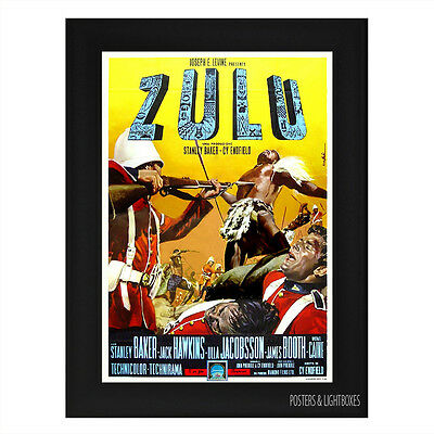 ZULU Ref 03 Framed Film Movie Poster A4 Black Frame