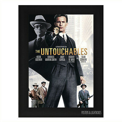 THE UNTOUCHABLES Framed Film Movie Poster A4 Black Frame