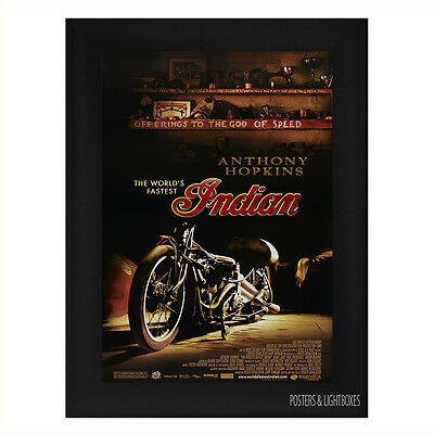 THE WORLDS FASTEST INDIAN MOTORCYCLE Framed Film Movie Poster A4 Black Frame