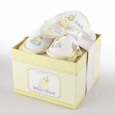 Baby Aspen 'Dilly the Duck' Bathtime Gift Set