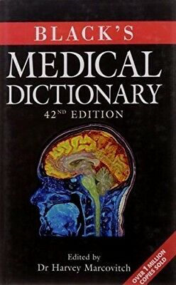 BLACK'S MEDICAL DICTIONARY by H. Marcovitch : NURSING MEDICAL: WH3 : NEW BOOK