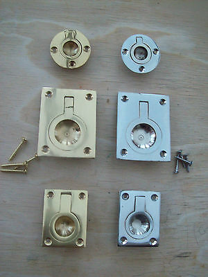 Cabinet Cupboard Drawer Door Recessed Flush Pull Handles