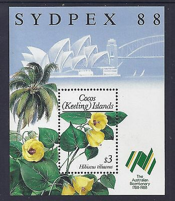 1988 COCOS ISLANDS SYDPEX '88 MINIATURE SHEET FINE MINT MNH/MUH