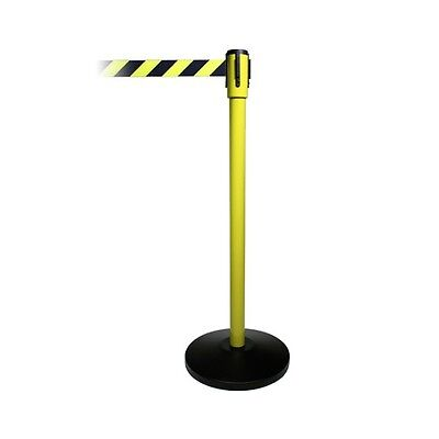 Pro Line Economy Retractable Belt Stanchions - Yellow Post