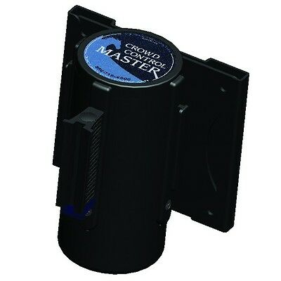 Pro Line Wall Mount Retractable Belt - Black Unit - 10 Foot Retracting Belt