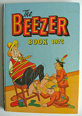 Rare Vintage Uk Annual - The Beezer Book 1975 - Ginger/colonel Blink - Unclipped