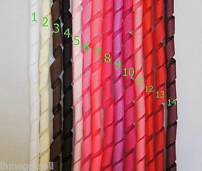 5 Pieces ~~10mm KORKER Grosgrain Ribbon 14 Colours U PICK White Black Pink Red