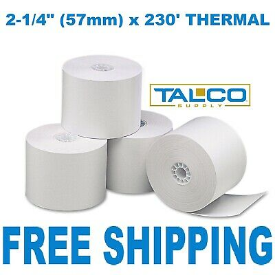 """2-1/4"""" x 230' THERMAL CASH REGISTER PAPER - 12 NEW ROLLS  ** FREE SHIPPING **"""