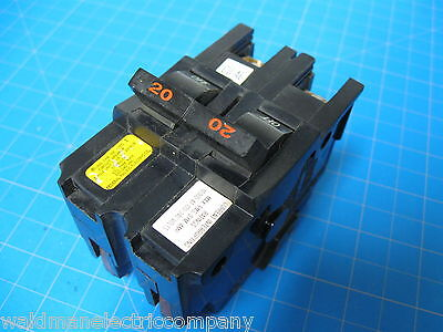 """60 Amp Federal Pacific FPE Double or 2 Pole 2/"""" Wide Breaker COPPER Terminals"""