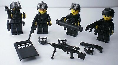 custom swat police helmet gun army weapons LEGO minifigures NO.10-58
