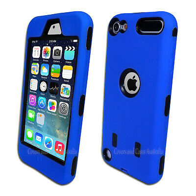 NEW Blue Heavy Duty Cover for Apple iPod Touch 5 5th Gen Tough Protective Case