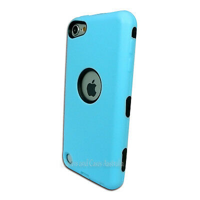 NEW Light Blue Heavy Duty Cover for iPod Touch 5 5th Gen 5G Protective Case