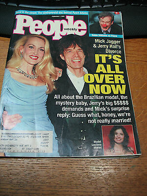 Mick Jagger 1999 People  Mag.  Jerry  Hall  Bianca