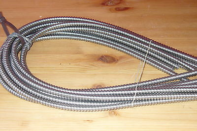 """20 PIECES  NEW  STAINLESS STEEL FLEXIBLE CONDUIT  1/4""""x 3/16"""" x 24"""" long"""
