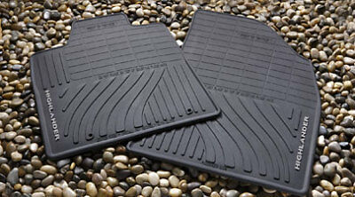 2008-2013 Highlander Hybrid All Weather Rubber Floor Mats Genuine Toyota