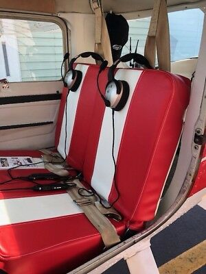 Cessna  150 & 152 Upholstered Seat Kits Covers with new foam