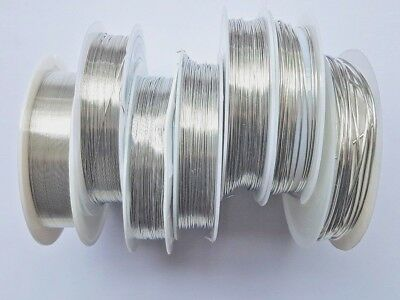 Choose Wire Thickness,1 Reel Silver Colour Beading Craft Wire,wrapping,sculpting