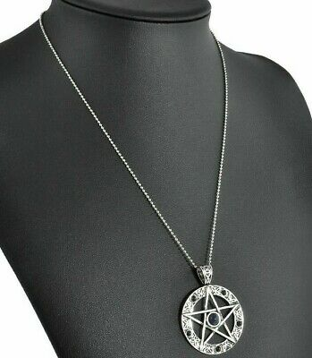Pentagram Pentacle Pendant Gothic Wiccan Necklace PROTECTION CLEANSED & BLESSED