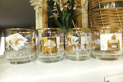 """McCormich Bar Glasses, Features Pony Express, Stagecoach, 3"""" x 3"""""""