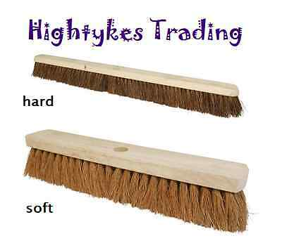 BROOM HEADS - CHOICE OF SOFT STIFF BRISTLES SIZES 10 to 36 inch brush sweeping