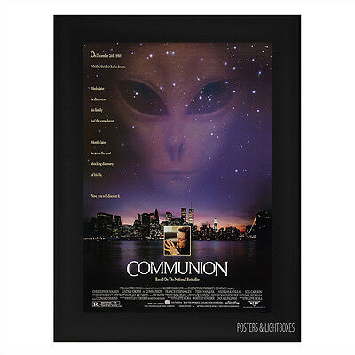COMMUNION SCI-FI Framed Film Movie Poster A4 Black Frame