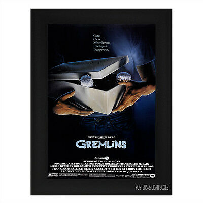 GREMLINS Framed Film Movie Poster A4 Black Frame