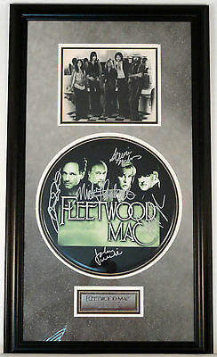 "*SALE* FLEETWOOD MAC framed 14"" drumhead autographed by band members w/COA"