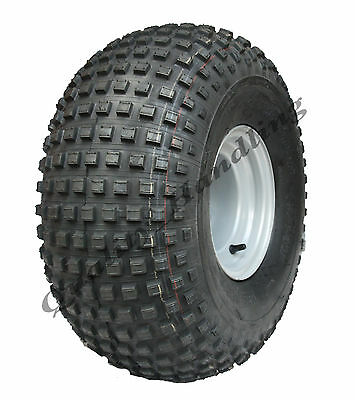 22x11.00 - 8  knobby tyre on 4 stud rim - ATV trailer - quad wheel