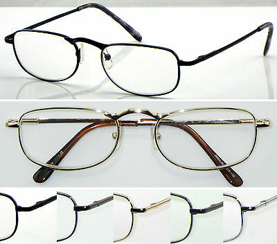 L36 Unisex Metal Frame Reading Glasses & Spring Hinges & Classic Style Designs