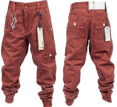 New Boys Eto Brand Red Rust Cuff Chino Jeans All Sizes Reduced Bargain Sale