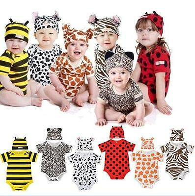 baby rompers boys girls outfit 9-24 moths ANIMAL insect shap suits with hat