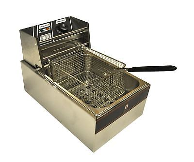 Electric Chip Oil Fryer | 5.5L New F550 - Perfect for Cafe /Take Away