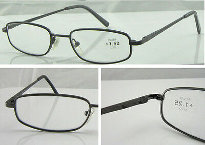 L61 Superb Quality Metal Reading Glasses & Classic Style Design & Spring Hinges