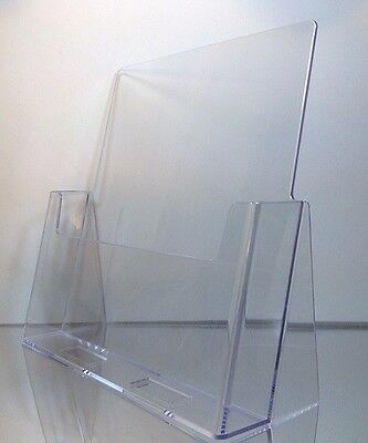 "6-pack of Clear Acrylic 8.5"" x 11"" Countertop Brochure/Magazine Holder Displays"