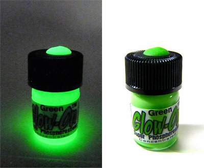 Glow-On® Super Phosphorescent Green color  gun sights paint,  2.3ml small vial,