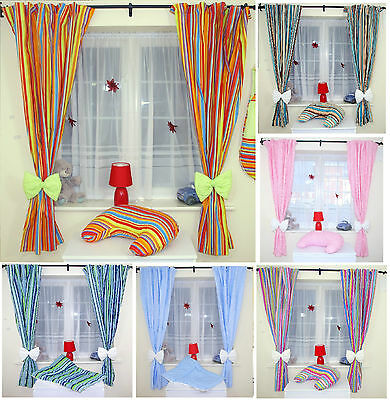 Amazing Nursery Baby Curtains With Bow Tie Backs