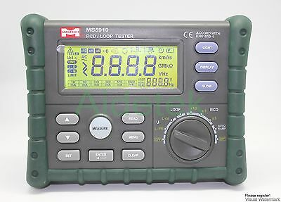 RCD LOOP circuit Trip-Out current time autoramp trigger tester data savevs FLUKE