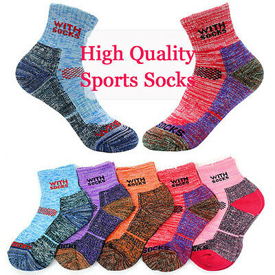 5pairs Women Outdoor Sports Pile Ankle Socks for Hiking Jogging Snow Board Ski