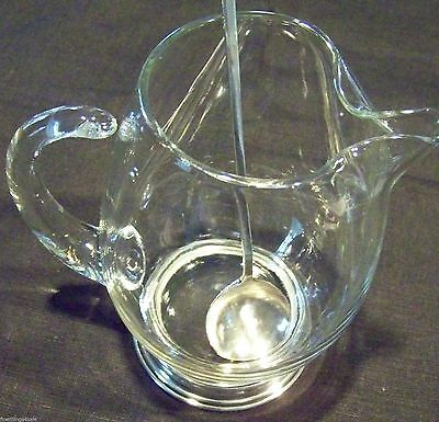 VINTAGE MID CENTURY STYLE STERLING FOOTED MARTINI BEVERAGE PITCHER Lrg 1qt Size