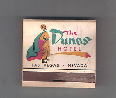 Dunes Hotel Casino Front Striker Original Matchbook Sultan & Entrance 1950's