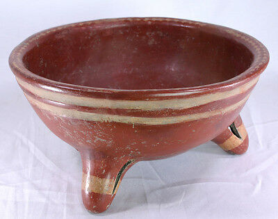 Large Chupicuaro Terra Cotta Tripod Bowl With Jackson Coa • CAD $1,524.30