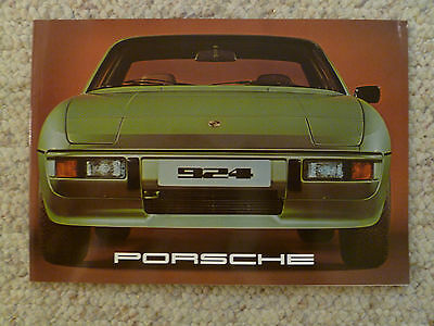 1977 Porsche 924 Coupe DELUXE Showroom Sales Brochure RARE Awesome L@@K